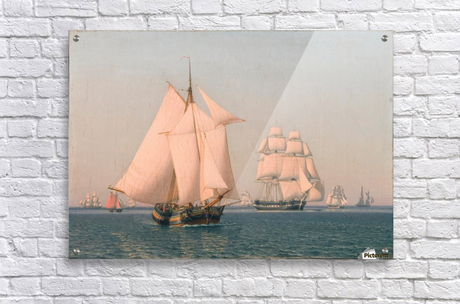 Ships under sail in mild breeze on clear summer afternoon  Acrylic Print
