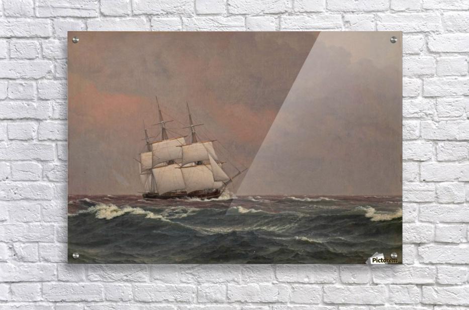 The corvette Najaden in rough seas  Acrylic Print