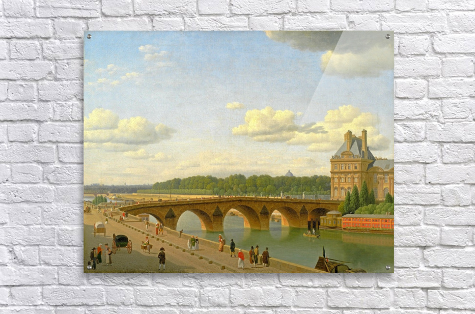 View at Pont Royal from Voltaire Quai in Paris  Acrylic Print