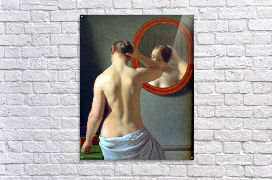 Woman in front of a mirror  Acrylic Print