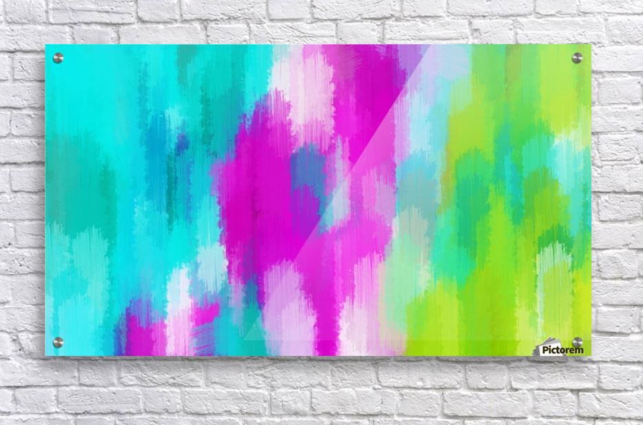 blue pink and green painting abstract background  Acrylic Print