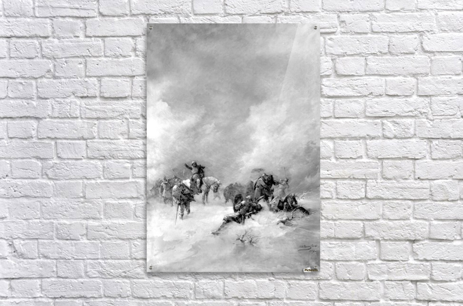 A pack of hunters in winter  Acrylic Print