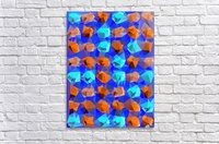geometric polygon abstract pattern in blue and brown  Acrylic Print