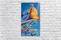 Psychedelic blue octopus  Acrylic Print