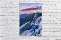 View from Moro Rock at dusk, Sequoia National Park; California, United States of America  Acrylic Print