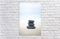Stack Of Stones On Sand, Selective Focus.  Acrylic Print
