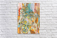 Illustration of a man with heads talking above his head  Acrylic Print
