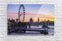 Millennium Wheel and skyline at sunset; London, England  Acrylic Print