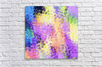 flower pattern abstract background in purple yellow blue green  Acrylic Print