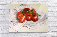 Tomatoes on a Striped Cloth   Acrylic Print