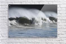 Waves Crashing On Mill Bay Beach Kodiak Island Southwest Alaska Autumn  Acrylic Print