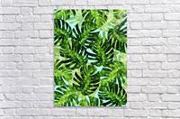 Watercolor leaves tropical I  Acrylic Print