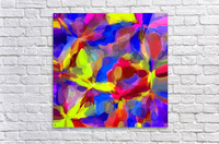 circle pattern abstract background in blue yellow red pink  Acrylic Print
