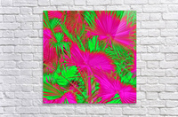 closeup palm leaf texture abstract background in pink and green  Acrylic Print
