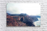 beautiful landscape at Bixby bridge, Big Sur, California, USA   Acrylic Print