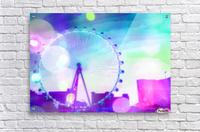 ferris wheel in the city at Las Vegas, USA with the night light bokeh  Acrylic Print