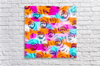 closeup rose texture pattern abstract background in pink orange blue  Acrylic Print