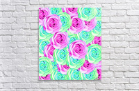 blooming rose texture pattern abstract background in pink and green  Acrylic Print
