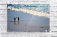 3 girls on California beach  Acrylic Print