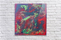 Red and Green Abstract  Acrylic Print