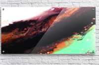 Agate Minimalist Abstract Canvas Painting Metal Artwork  Acrylic Print