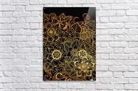 Floral Doodle Gold G523  Acrylic Print