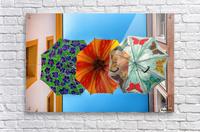 La ruelle des parapluies  Acrylic Print