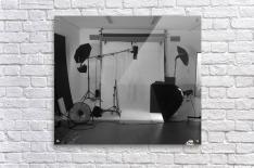 Black and White Studio  Acrylic Print