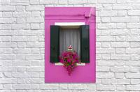 Colored window in Burano  Acrylic Print