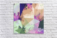 psychedelic geometric triangle polygon pattern abstract in pink green brown blue  Acrylic Print