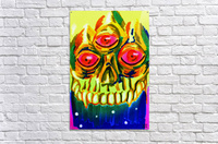 Three eyed skull painting  Acrylic Print