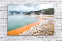 Rotorua Hot pool with steam New Zealand  Acrylic Print