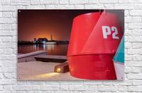 Orange lights with Geelong Pier and Buoys  Acrylic Print