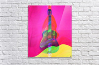 Guitar on Pink   Acrylic Print