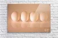White Egg On Canvas warm light version  Acrylic Print