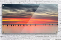 Striking Sunset at Clifton Springs  Acrylic Print
