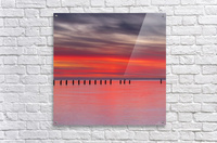 Pink Sunset over Water  Acrylic Print