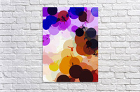 geometric circle and triangle pattern abstract in purple brown blue  Acrylic Print