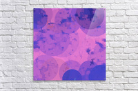 geometric circle and square pattern abstract in pink purple  Acrylic Print
