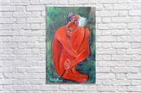 42.Fear2017year 30x30cm Original Painting Oil on Canvas1300$  Acrylic Print