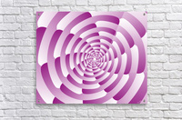Abstract Pink Spiral Art   Acrylic Print