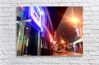 Korean Street at Night  Acrylic Print