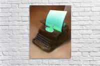 typewriter  Impression acrylique