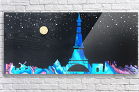 I love Paris on Wood 2  Acrylic Print