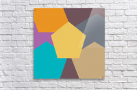 COLORFUL HEXAGON Pattern  Acrylic Print