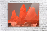 Torres del Paine National Park Low Poly Art   Acrylic Print