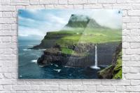 Múlafossur Waterfall  Acrylic Print