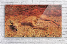Dead deer by Albin Egger-Lienz  Acrylic Print