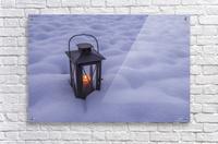 Lantern in the snow  Acrylic Print