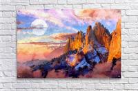 Colorado Mountains - Digital Painting III  Acrylic Print